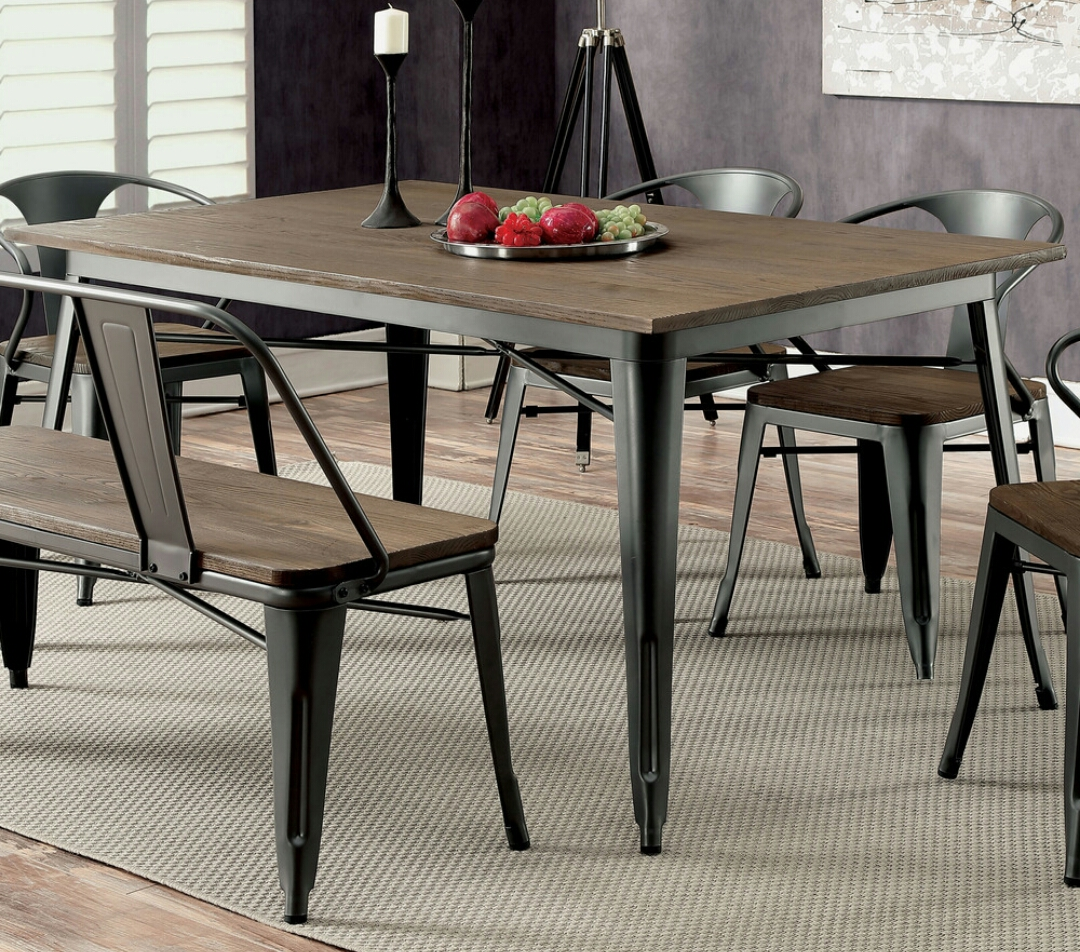 Industrial Wood/Metal Dining Table