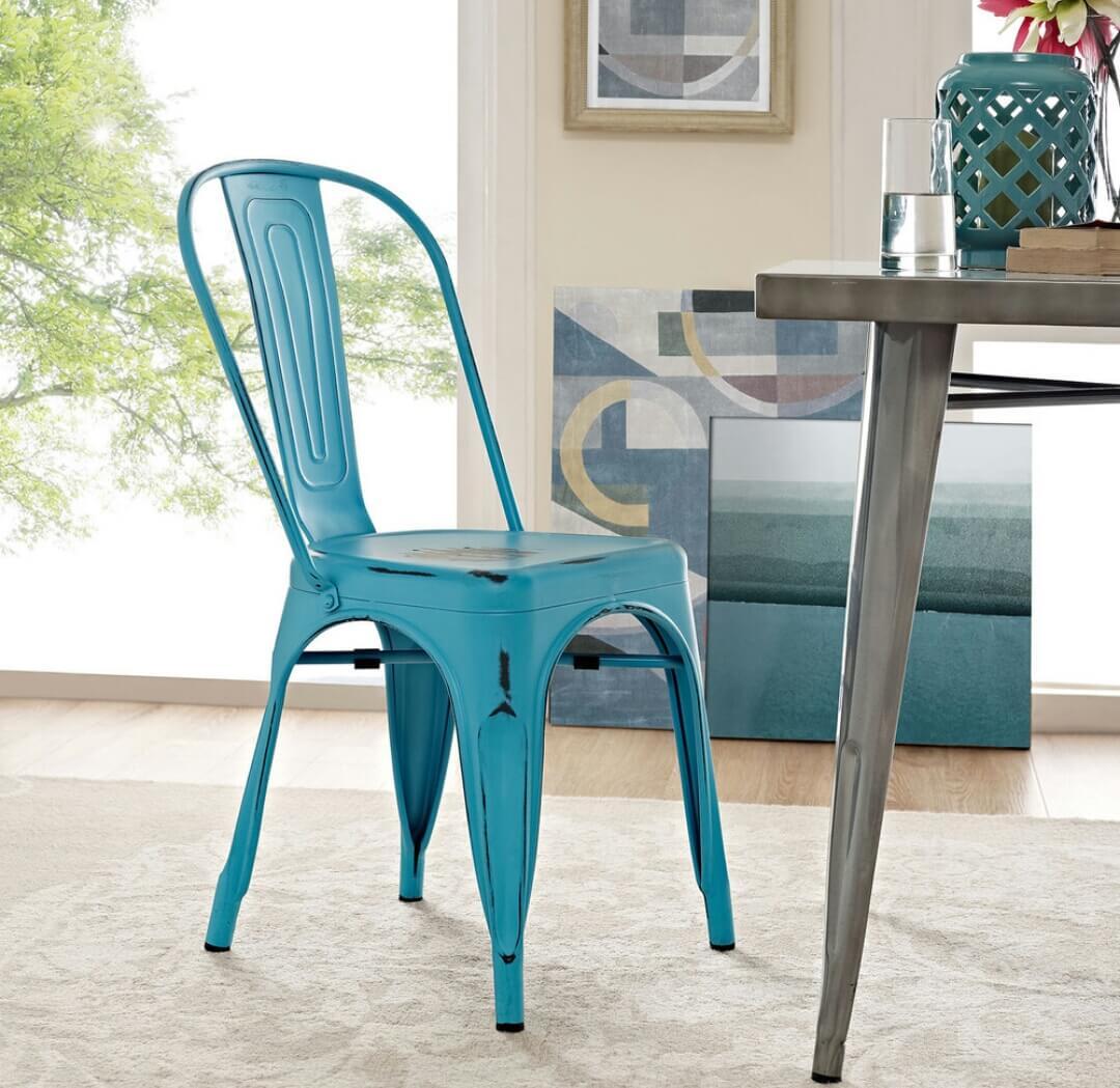 Rustic Rajtai Metal Bar/Kitchen Chair – Rajtaishree