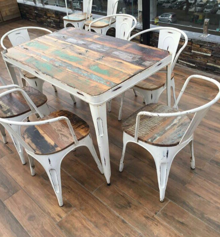 6 Seater High Antique Designed Dining Table Set With 6 Chairs Rajtaishree